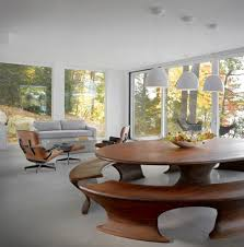 elegant contemporary living room furniture pueblosinfronteras us architecture dark wood oval dining table with bench seat beside living room with white interior