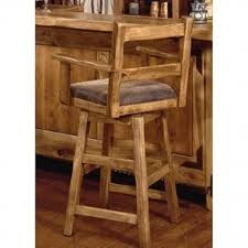 Wooden Swivel Bar Stool Wood Swivel Bar Stools With Arms Foter