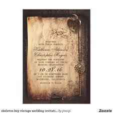 Vintage Wedding Invitation Card Old Skeleton Key Vintage And Gothic Wedding Card Vintage Wedding
