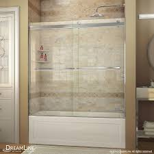 Bathtubs With Glass Shower Doors Shower Bathtub Shower Doors Sliding Glass Frameless Home Depot