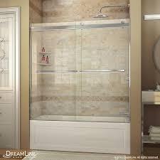 shower bathtub shower doors sliding glass frameless home depot Bathtubs With Glass Shower Doors