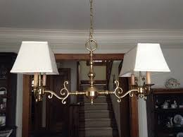 Rectangular Shade Chandelier Rectangle Chandelier Vintage Lampshades Recovered Restored