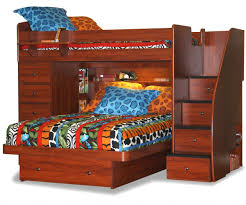 Sierra Twin Over Full Space Saver With Chest And Stairs - Stairway bunk bed twin over full