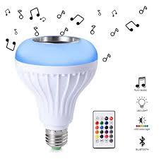 bluetooth music light bulb ledgle e27 led light bulbs rgb smart music light bulb dimmable with