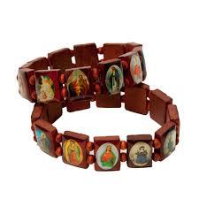 catholic bracelet jesus guadalupe wooden catholic bracelet ufindings inc