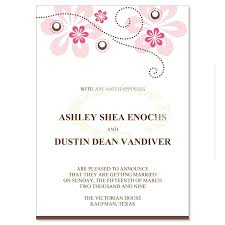 wedding announcements pink brown wedding announcement templates fuschia do