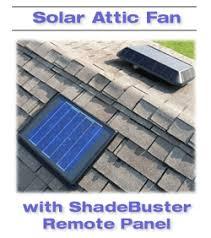 solar attic fan with remote solar panel