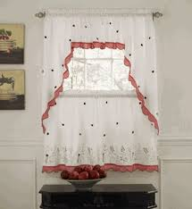 Lorraine Curtains Kitchen Tier Curtains Ladybug Meadow Kitchen Curtains By