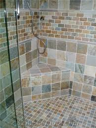 slate tiles shower wall and floor from united states