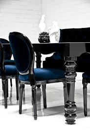 Black Gloss Dining Room Furniture Bel Air Dining Table In High Gloss Black Modshop