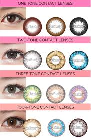 buy halloween contacts in store 1 2 3 or 4 tones how many should i have in my color contacts