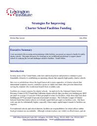strategies for improving charter facilities funding