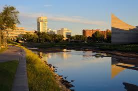 Wichita Kansas View Along Arkansas River Wichita Ks Usa Mapio Net