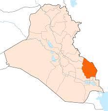 Iraq Province Map Maysan Province Wikipedia