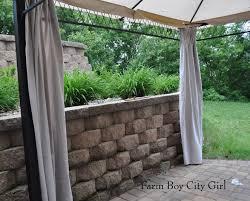 Outdoor Gazebo Curtains by Gazebo Curtains U2013 No Sewing