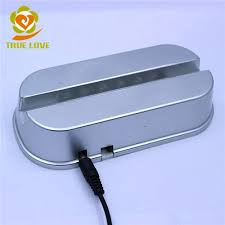 led light base for crystal custom plastic led light base for 10mm laser crystal gifts tl 0464