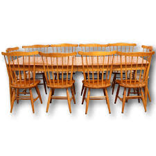 Cherry Dining Room Furniture Solid Cherry Shaker Style Dining Table W 10 Chairs Upscale