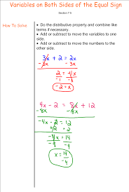 solving equations with variables on both sides 7th grade pre