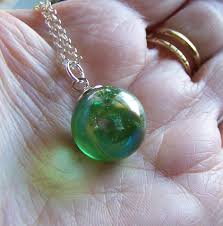 crystal ball pendant necklace images Mystic green aura quartz crystal ball pendant my mystic gems png