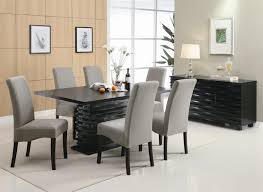stanton 5 piece dining set in rich black finish by coaster 102061