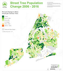 New York Times Census Map by Treescount 2015 Nyc Parks