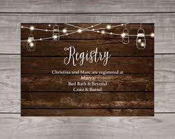 wedding registry inserts registry insert etsy