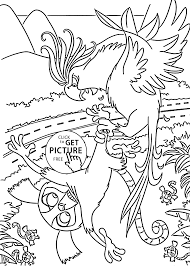 nigel parrot coloring pages for kids printable free rio cartoon