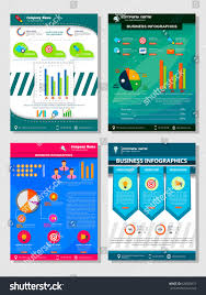 financial report cover page business template infographic financial report book stock vector