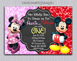 Mickey Mouse Birthday Invitation Card Best 25 Twin Birthday Parties Ideas On Pinterest Twins 1st