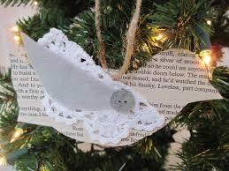 paper book u0026 doily bird ornament by jenni at beautiful nest