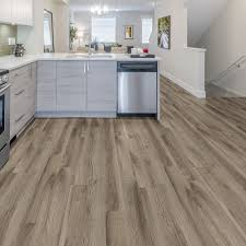 Resilient Vinyl Plank Flooring Trafficmaster 6 In X 36 In Weathered Stock Chestnut