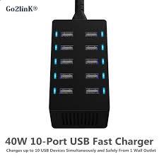 famille bureau universal 10 port usb chargeur intelligent puissance adaptateur lcd