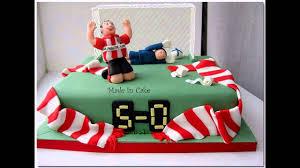 easy football cake decorations youtube