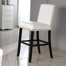 Leather Bar Stool With Back Bar Stool Leather Nailhead Bar Stools With Back Curved Nailhead
