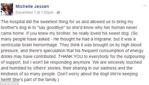 ryan jessen u0027s dog visits his dying owner at hospital daily mail