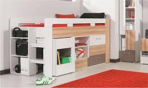 lit mezzanine ado avec bureau et rangement lit combiné enfant et adolescent avec bureau et commode