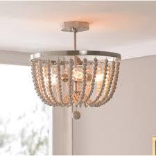 wood flush mount ceiling light white wood beaded flush mount wayfair ca