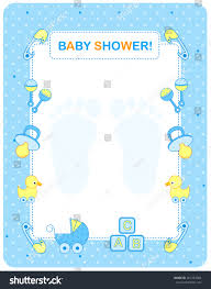 Baby Shower Invitations Card Illustration Baby Shower Invitation Card Border Stock Vector