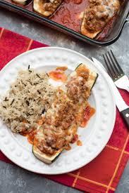 italian turkey recipes thanksgiving italian stuffed zucchini boats valerie u0027s kitchen