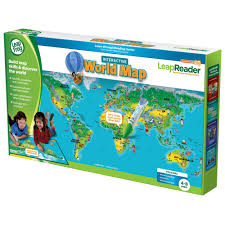 World Map Interactive by Leap Frog Leapreader Interactive World Map Big W