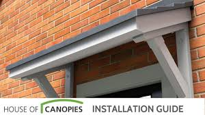 Overdoor Canopies by How To Fit A Mono Pitch Door Canopy Youtube