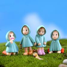 5pcs set random miniature figurines totoro mini fairy garden