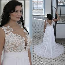 plus size wedding dresses fat women sweetheart sheer bateau neck