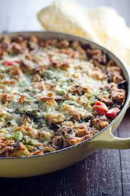 easy vegetarian make ahead breakfast casserole umami
