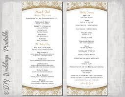 tea length wedding program template rustic wedding program template burlap lace diy ecru order of