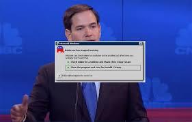 Rubio Meme - rubio has software glitch rubio robot know your meme