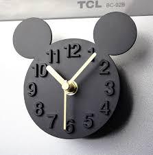 aimant cuisine mickey mouse auto adhésif horloge murale design moderne silencieux