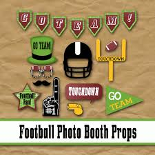 football party decorations football photo booth props and party decorations printable