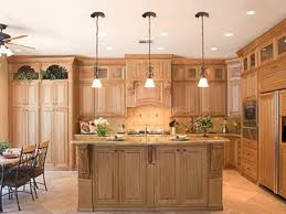 Cherry Oak Cabinets Kitchen Kitchen Room Natural Cherry Wood Cabinets With Living Natural