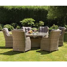 6 seater outdoor dining table royalcraft wentworth rattan 7pc 6 seater oval dining set with